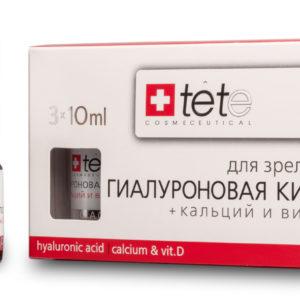 Омолаживающая сыворотка Гиалуроновая кислота + Кальций и витамин D TETe Cosmeceutical Hyaluronic Acid+ Calcium & Vit D