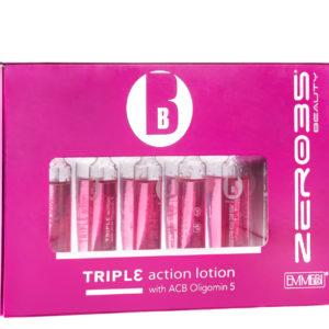 Восстанавливающие ампулы тройного действия «Глянцевый блеск» Beauty triple action lotion Emmebi