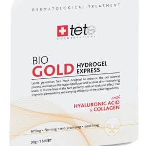 Гидрогелевая маска моментального действия с коллоидным золотом /BIO Gold Collagen Mask,1шт