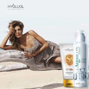 HYALUAL набор: Cолнцезащитный крем Гиалуаль СПФ50 и спрей Аквалуаль