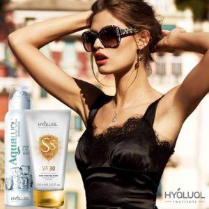 HYALUAL Cолнцезащитный крем Гиалуаль СПФ30 и спрей Аквалуаль
