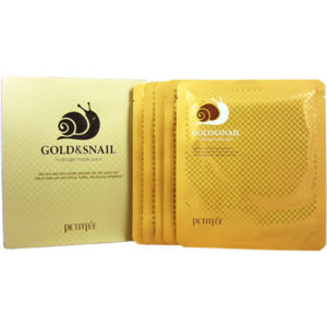 Гидрогелевая маска для лица с золотом и улиткой PETITFEE Gold & Snail Hydrogel Mask
