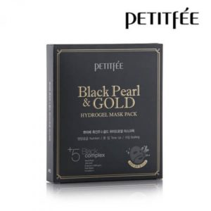 PETITFEE Black Pearl & Gold Hydrogel Mask Pack Гидрогелевая маска с золотом и черным жемчугом