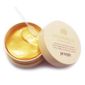Petitfee Gold & Snail Hydrogel Eye Patch Гидрогелевые патчи для глаз с золотом и улиткой  60шт