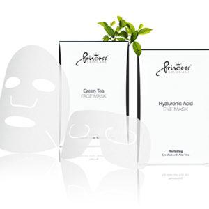 Princess Face Mask with Green Tea Маска для лица с экстрактом зеленого чая, 8шт
