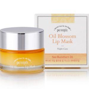 Ночная маска для губ с витамином Е и маслом облепихи PETITFEE Oil Blossom Lip Mask 15g