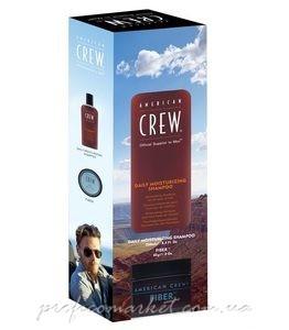 Набор American Crew DUO 3 (Daily Moisturizing Shampoo 250ml + Fiber 85g)