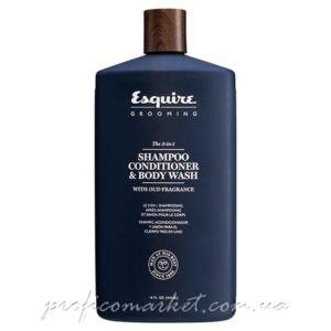 Мужской 3 в 1 Шампунь, Кондиционер и Гель для Душа / CHI Esquire MEN 3-in-1 Shampoo, Conditioner, Bodywash