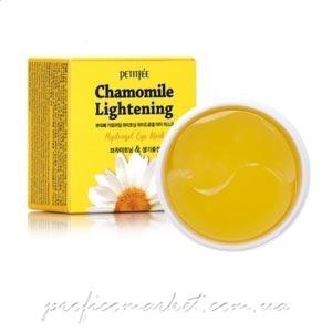 Гидрогелевые осветляющие патчи для глаз с экстрактом ромашки PETITFEE Chamomile Lightening Hydrogel Eye Mask 60шт