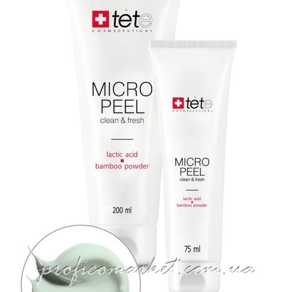 TETeCosmeceutical Micro Peel Мягкий эксфолиант с молочной/гликолевой кислотами и бамбуковой пудрой