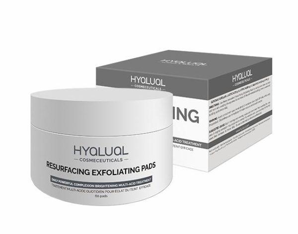 Мультикислотные диски для регенерации кожи лица Resurfacing Exfoliating Pads HYALUAL