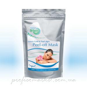Альгинатная маска омолаживающая Люкс – ухода с золотом и жемчугом Brilace Luxury Gold and Pearl algin peel-off mask