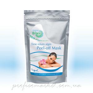 Альгинатная маска стимулирующая, омолаживающая маска для чувствительной кожи с признаками купероза Brilace Time return algin peel-off mask