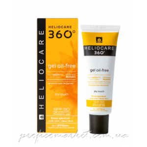 Солнцезащитный гель на водной основе с SPF 50+ для нормальной и жирной кожи Cantabria Labs Heliocare Gel Oil-Free Dry Touch SPF 50 Sunscreen SPF 50+