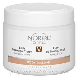 Разогревающий массажный крем для похудения с какао и перцем чили Norel Body massage cream — cocoa and chilli
