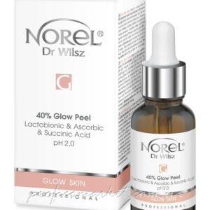 Пилинг с эффектом осветления и сияния кожи с лактобионовой, аскорбиновой и янтарной кислотой Norel Glow Skin Glow Peel
