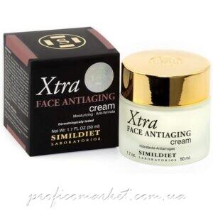 Антивозрастной крем для лица с гиалуроновой кислотой и ДМАЕ Simildiet Face Antiaging Cream XTRA