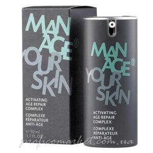 Активный омолаживающий крем для лица для мужчин Dr.Spiller Manage Your Skin Activating Age Repair Complex