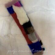 Меховая накладка на ремень безопасности-мех норка ручная работа