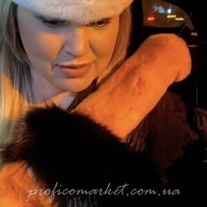 Меховая накладка на ремень безопасности-мех рекс ручная работа