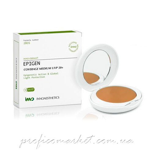 Матирующая компактная крем-пудра кушон Innoaesthetics Epigen Coverage Medium UVP 50+