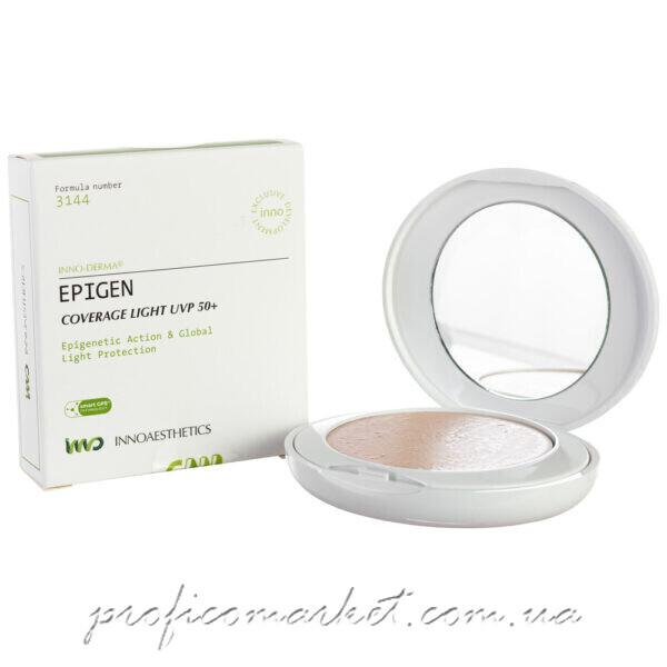 Матирующая компактная крем-пудра кушон светлая Innoaesthetics Epigen Coverage Light UVP 50+