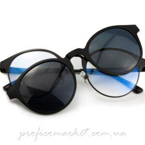 Солнцезащитные очки 2в1 BLUE LIGHT BLACK от GREY HOUNDERS