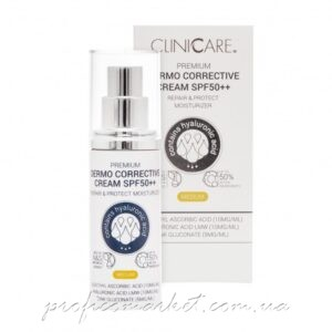 Солнцезащитный Корректирующий крем 5в1 с саморегулирующимся пигментом ClinicCare Premium Dermo Corrective Cream SPF50++